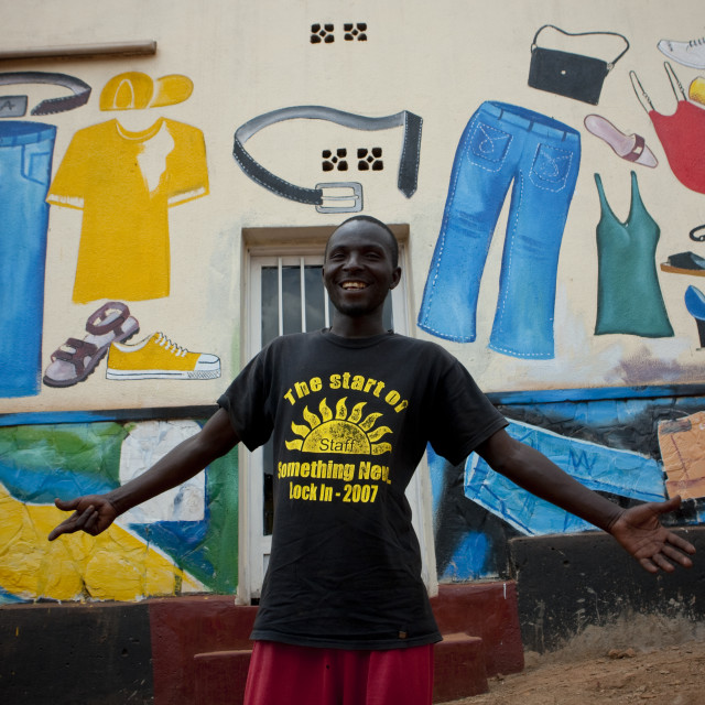 """Mohamed, Kigali muslim quarter - rwanda"" stock image"