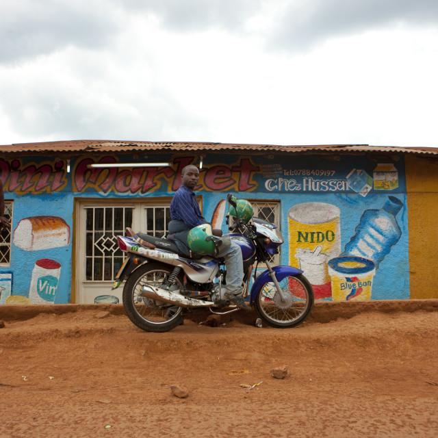"""Shop decoration in kigali muslim quarter - rwanda"" stock image"