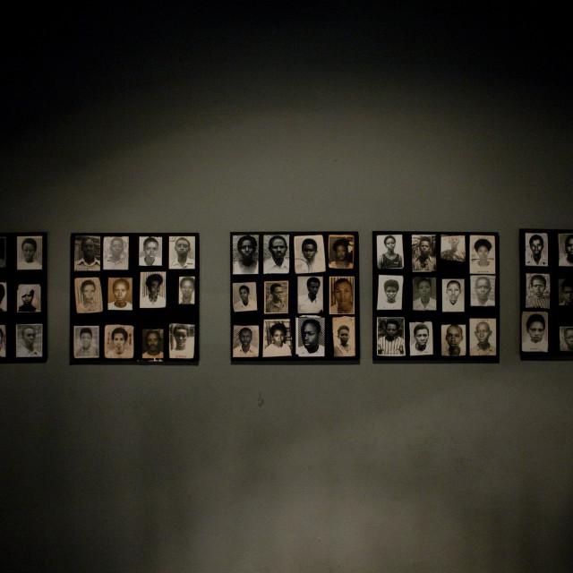 """""""Gisozi genocide memorial site in kigali - rwanda"""" stock image"""