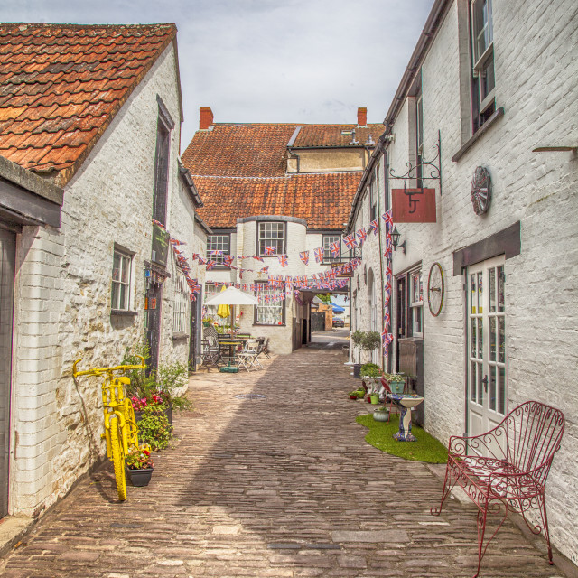 """Quaint Lane"" stock image"