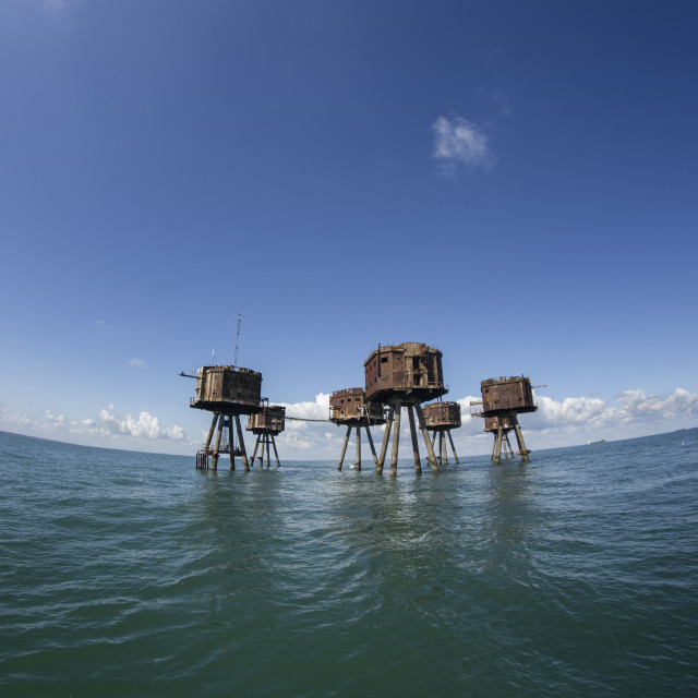 """Red Sand WWII Forts, Thames estuary"" stock image"
