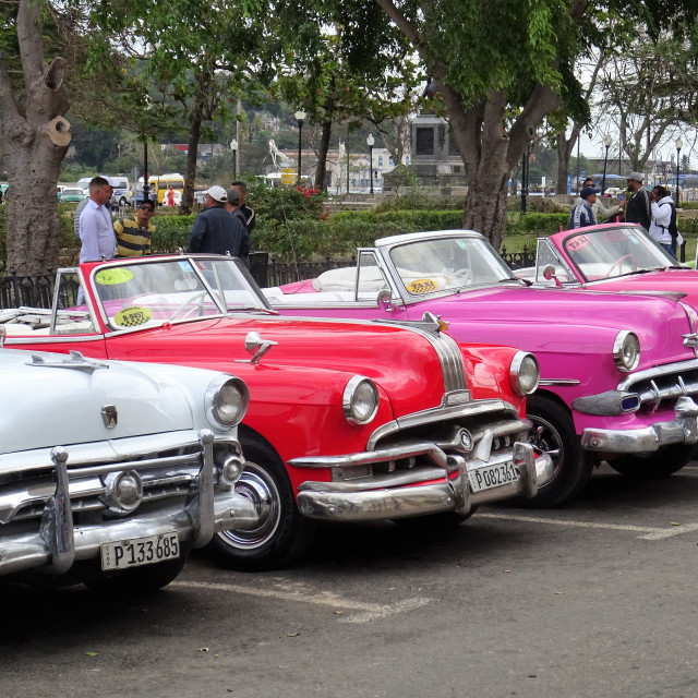 """Vintage cars in Havana"" stock image"