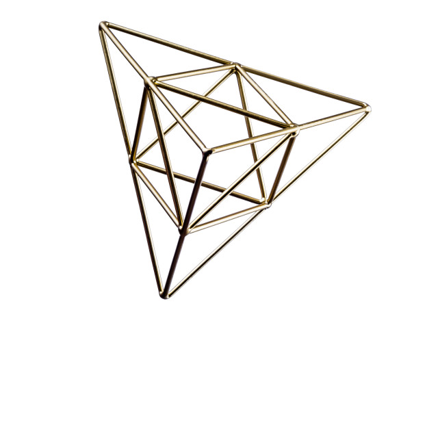 """Golden triangular pyramid"" stock image"