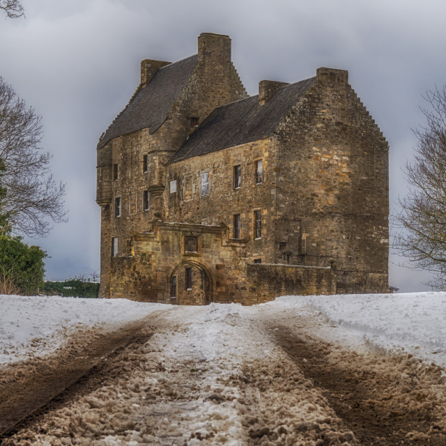 """""""Midhope Castle"""" stock image"""