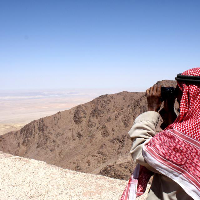 """""""Bedouin lookout"""" stock image"""