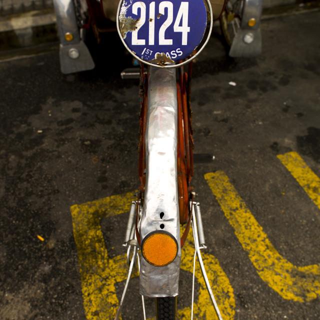 """""""Trishaw, George Town, Penang, Malaysia"""" stock image"""