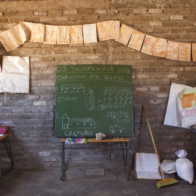 """Classroom In A Rural School, Ruacana, Namibia"" stock image"