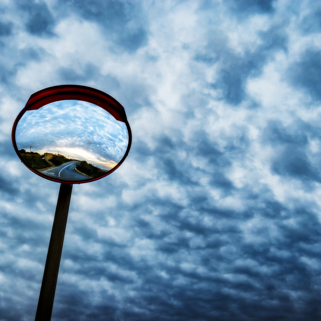 """Mirror in the sky"" stock image"