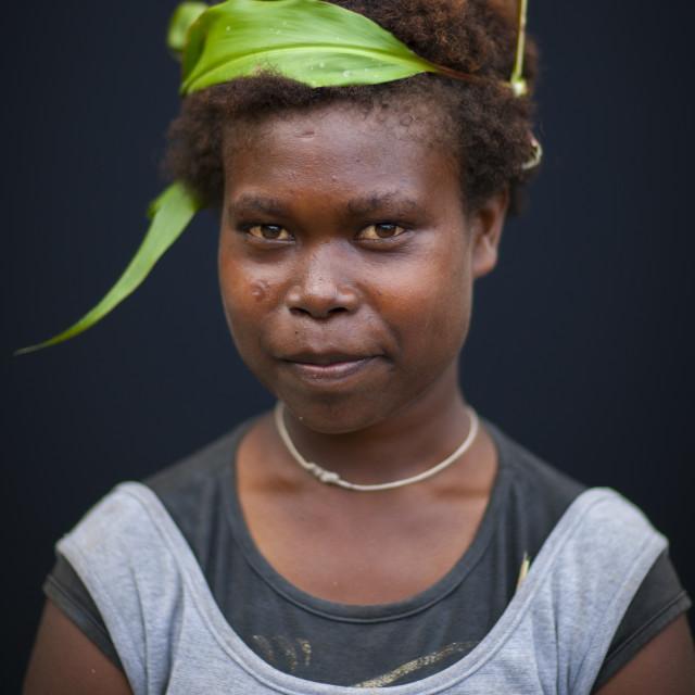 """Girl From Langania Village, New Ireland Island, Papua New Guinea"" stock image"