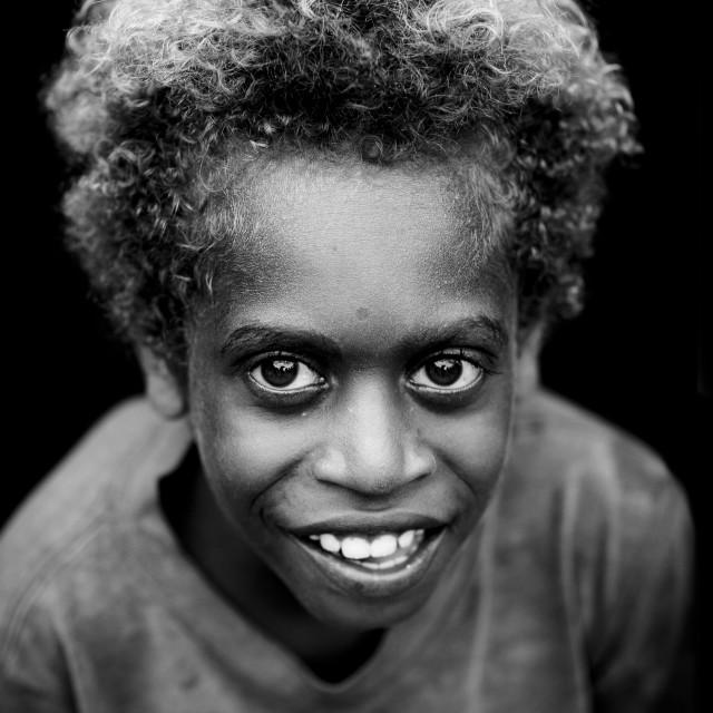 """Boy From Langania Village, New Ireland Island, Papua New Guinea"" stock image"