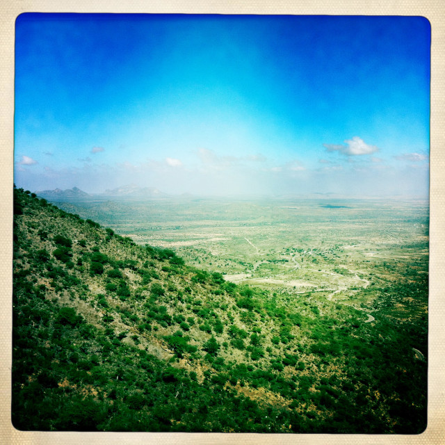 """Landscape Of The Sheikh Hussein Mountains, El Sheikh, Somaliland"" stock image"