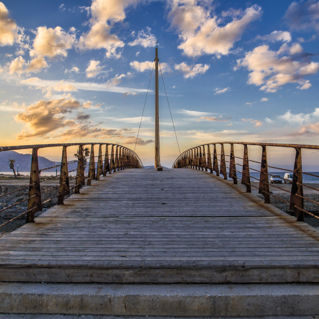 """Bridge at Heraklion"" stock image"