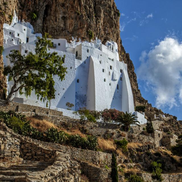 """Hozoviotissa Monastery in Amorgos Island Greece"" stock image"