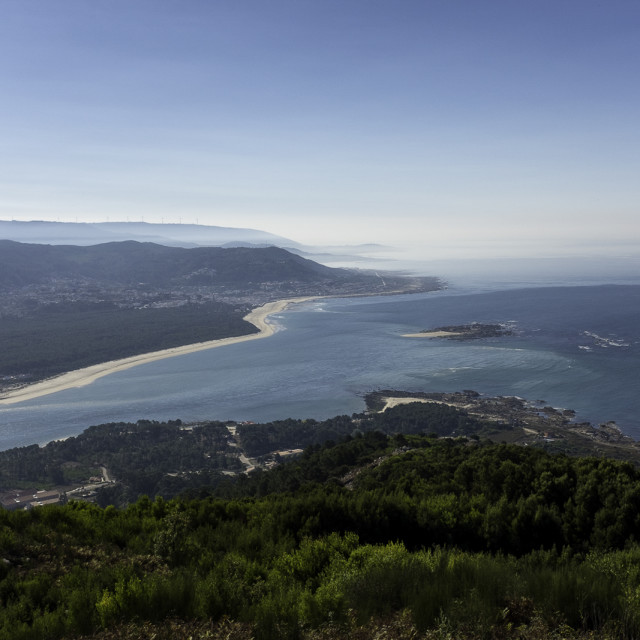 """Portugal as seen from Spain."" stock image"