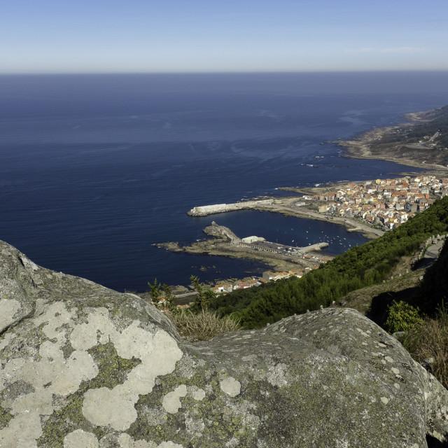 """Coastal Spanish Town"" stock image"