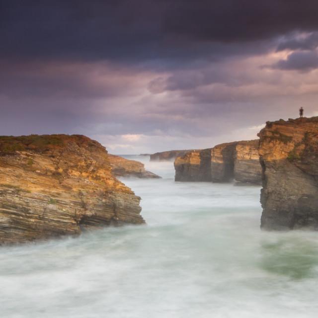 """Las Catedrales beach"" stock image"