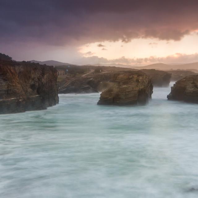 """""""Playa de las Catedrales 2"""" stock image"""