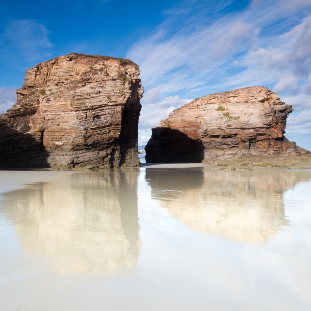 """""""Playa de las Catedrales 8"""" stock image"""