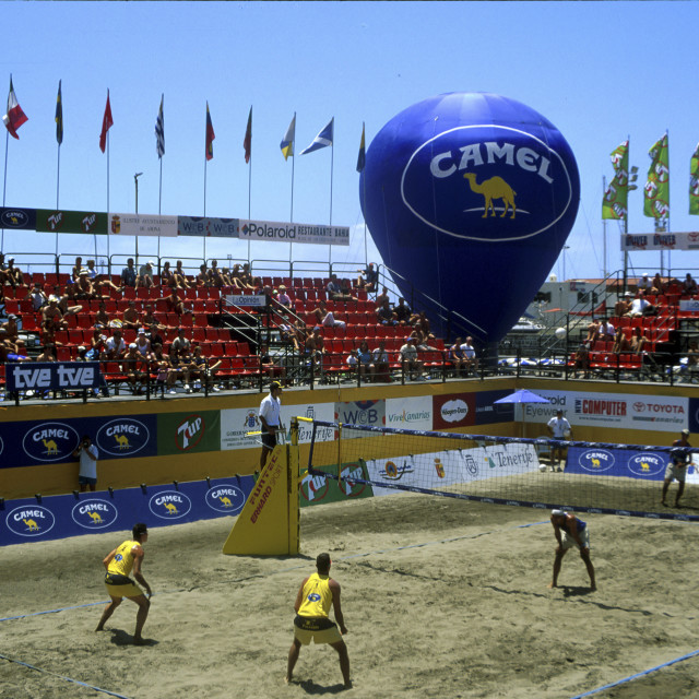 """Volley ball championship Tenerife,"" stock image"