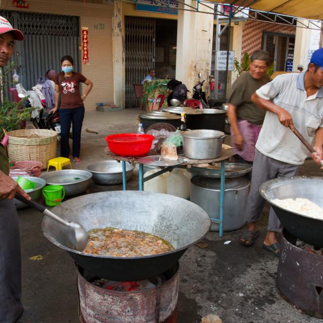 """Street food of Kampot, Cambodia"" stock image"