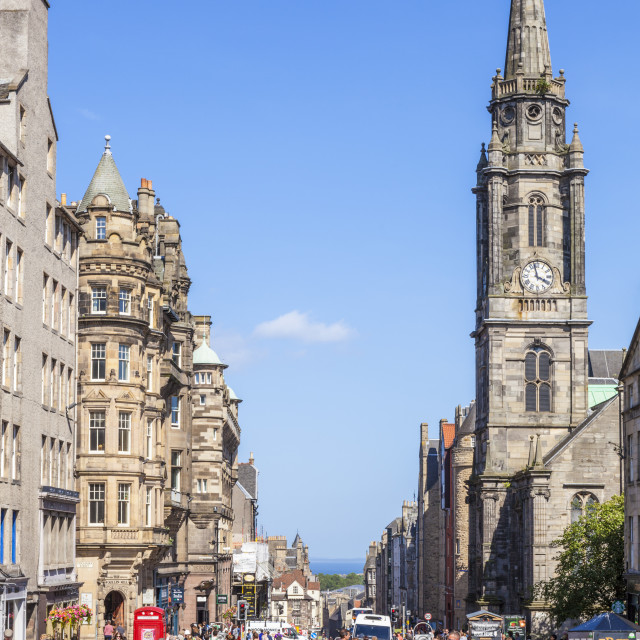 """""""Tron Kirk on The High Street in Edinburgh old town or The Royal Mile,..."""" stock image"""
