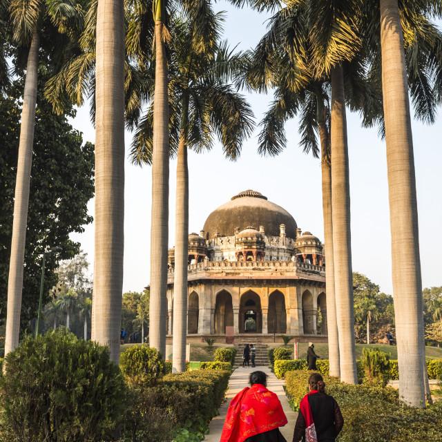 """""""Tomb of Muhammad Shah, Lodi Gardens (Lodhi Gardens), New Delhi, India"""" stock image"""