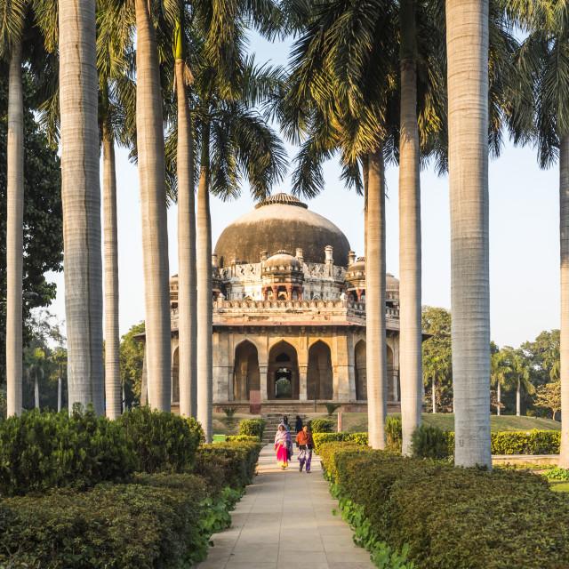 """""""Tomb of Muhammad Shah, Lodhi Gardens (Lodi Gardens), New Delhi, India"""" stock image"""