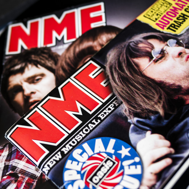 """""""NME, New Musical Express magazine"""" stock image"""