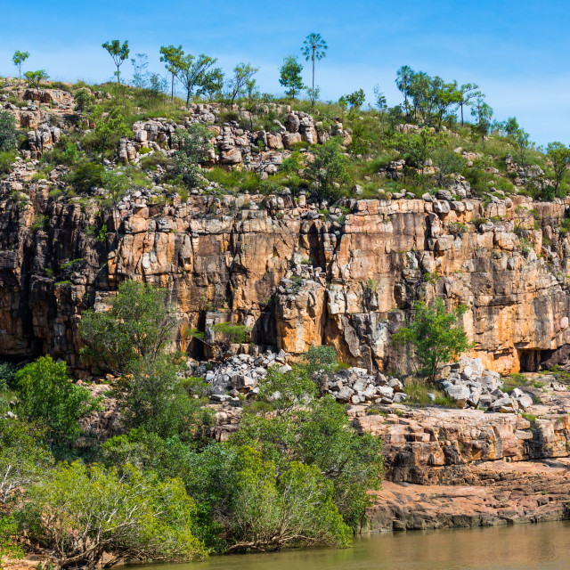 """Rugged terrain at Katherine Gorge, Northern Territory, Australia."" stock image"