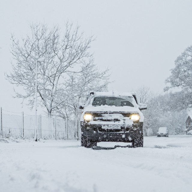 """""""Car in the snow"""" stock image"""