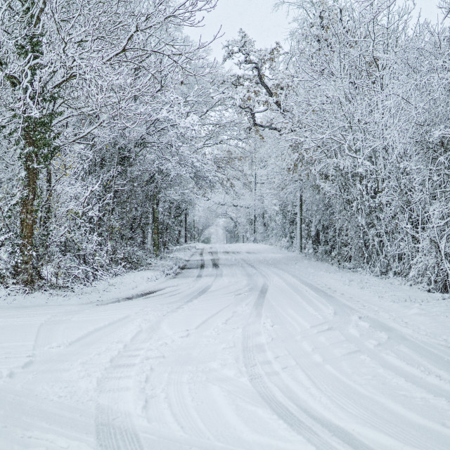 """""""Snow on the road"""" stock image"""
