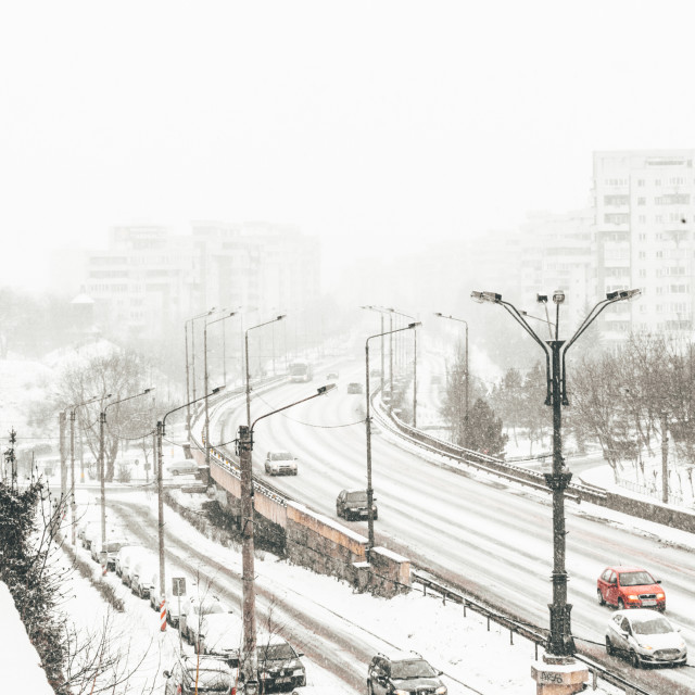 """Snowing in the City"" stock image"
