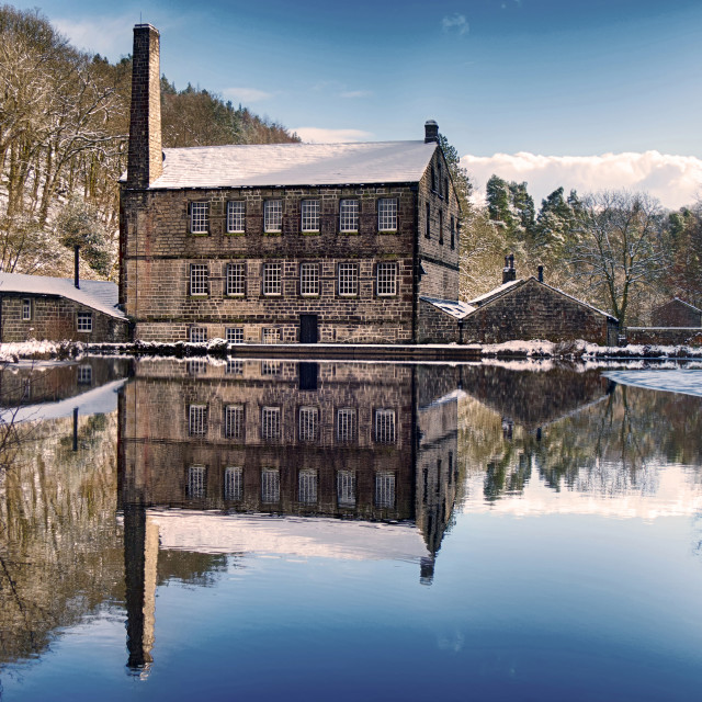 """""""Gibson Mill, Hardcastle Crags"""" stock image"""