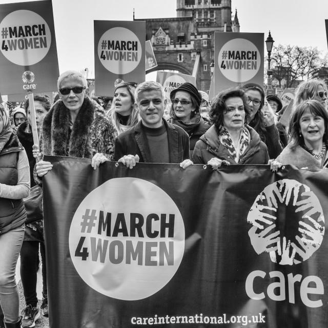 """March4Women - London"" stock image"