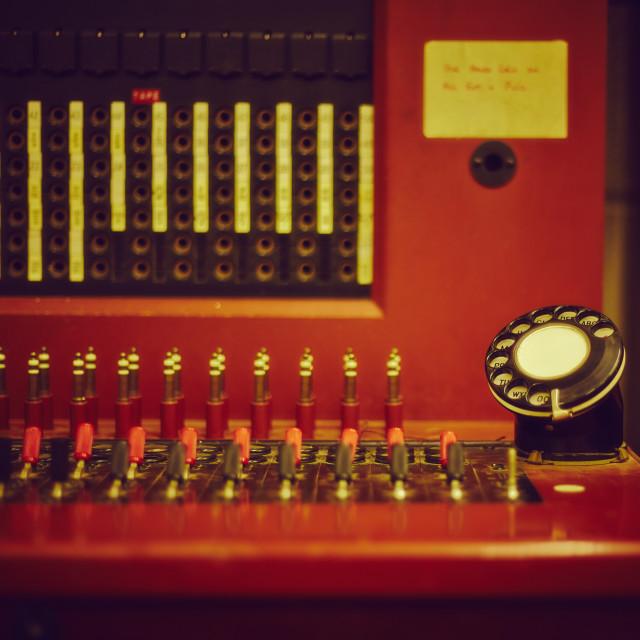 """Telephone Operator Board"" stock image"