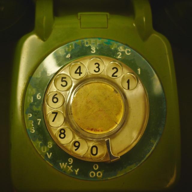 """Green Telephone"" stock image"