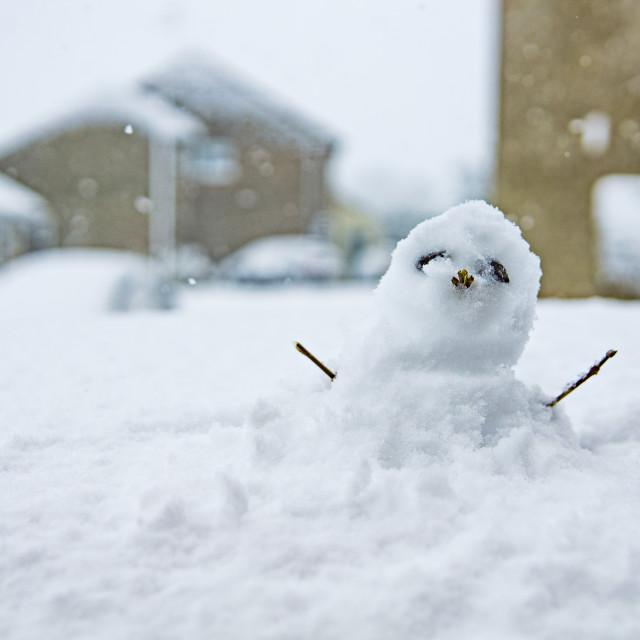 """Snow-person"" stock image"