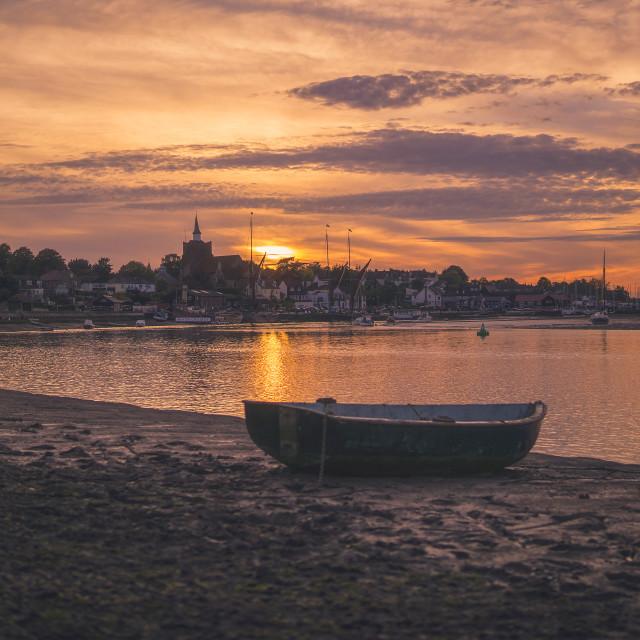 """Maldon Sunset"" stock image"