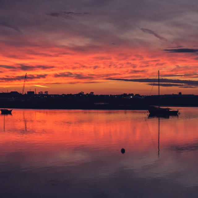 """Maldon Evening Sunset"" stock image"
