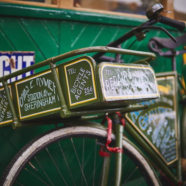 """""""A old fashioned delivery bike"""" stock image"""