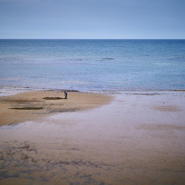 """Beach, Norfolk"" stock image"