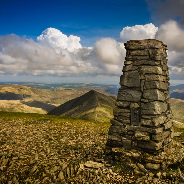 """""""Helvellyn Way Point"""" stock image"""