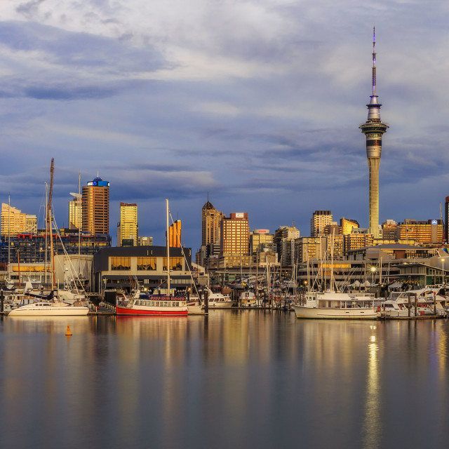 """Downtown Auckland"" stock image"