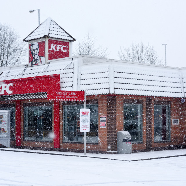 """KFC Mansfield Fast Food Chain"" stock image"