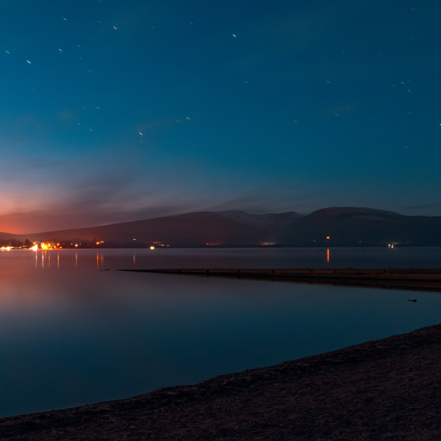 """Loch Lomond at Night"" stock image"