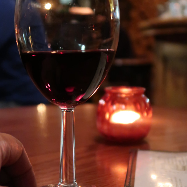 """Wine (optical illusion)"" stock image"