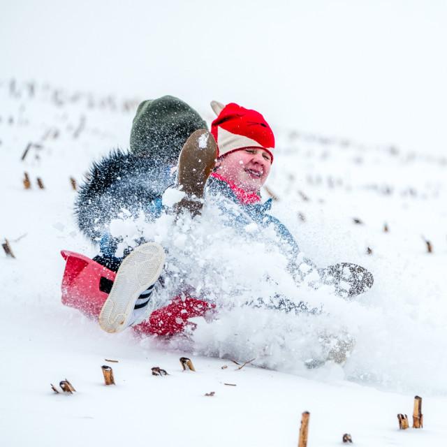 """""""Snow Fun"""" stock image"""