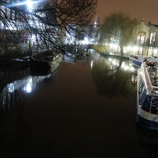 """Camden Lock at Night"" stock image"