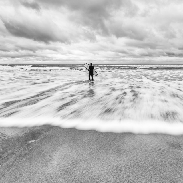 """Bude Beach"" stock image"