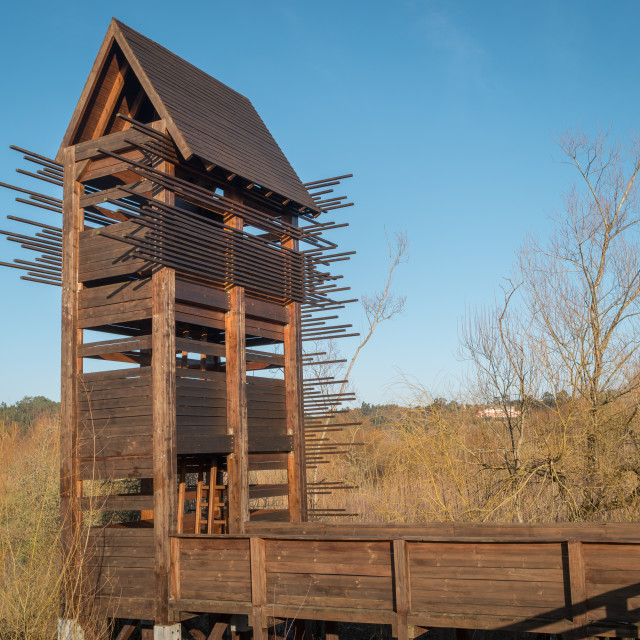 """Bird observation tower"" stock image"